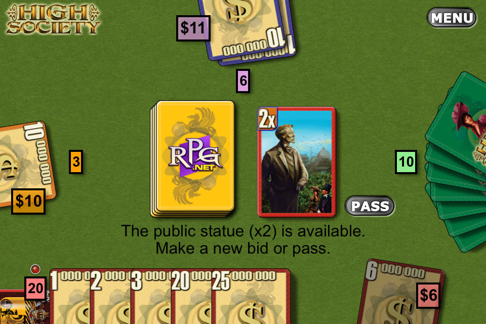 Screenshot Reiner Knizia's High Society